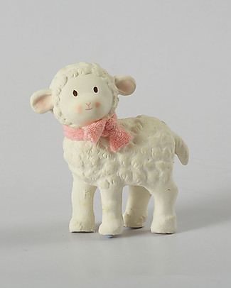 Tikiri Lamb Lila, Pink - Natural Rubber and Organic Cotton Puppets