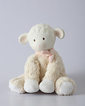 Tikiri Puppet Lamb Lili, Pink - Natural Rubber and Organic Cotton Puppets