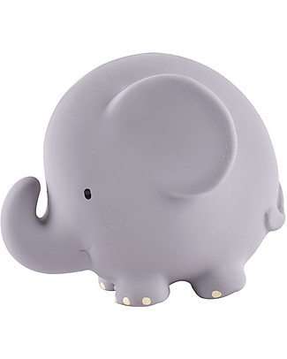 Tikiri Rattle Elephant, My First Zoo - 100% Natural Rubber Rattles
