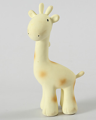 Tikiri Rattle Giraffe, My First Zoo - 100% Natural Rubber Rattles