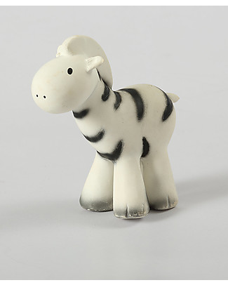 Tikiri Rattle Zebra, My First Zoo - 100% Natural Rubber Rattles