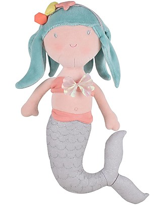 Tikiri Soft Mermaid Toy, Fairytales - 30 cm - Organic Cotton Soft Toys