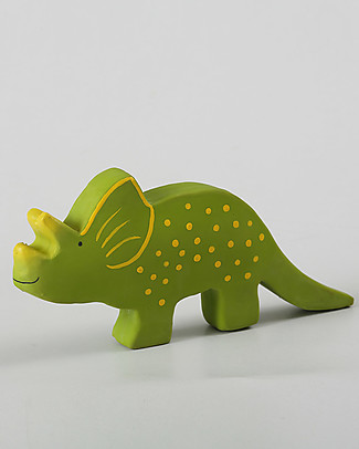 Tikiri Triceratops, Baby Dinos - 100% Natural Rubber Puppets