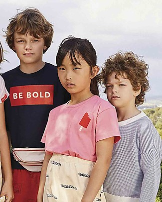 Tiny Cottons Block Party, Popsicle T-Shirt, Light Pink - Elasticated Pima Cotton T-Shirts And Vests