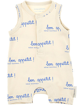 Tiny Cottons Bon Appétit Sleeveless Onepiece - Pima Cotton  Short Sleeves Bodies