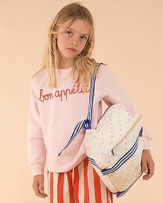 "Tiny Cottons ""Bon Appétit"" Sweatshirt, Pink - Pima Cotton Sweatshirts"