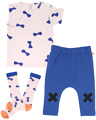 Tiny Cottons Bow Ties T-Shirt - Elasticated Pima Cotton T-Shirts And Vests