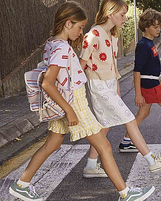 Tiny Cottons Check Short - Cotton and Linen - Frills on Bottom Shorts