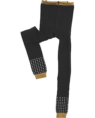 Tiny Cottons Dots Geometry Leggings, Black and Tan Leggings