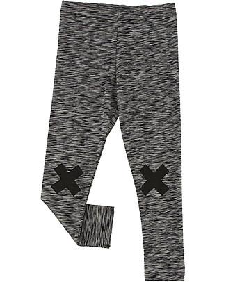 Tiny Cottons Logo Pant, Beige+Black - Pima Cotton Trousers