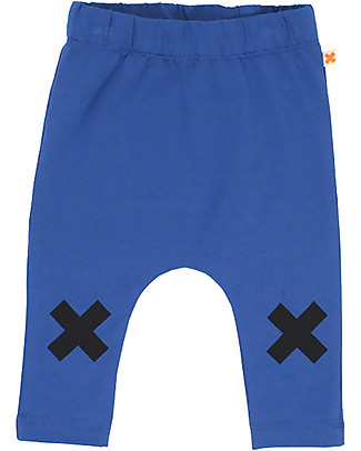 Tiny Cottons Logo Pant, Dark Blue - Pima Cotton Trousers