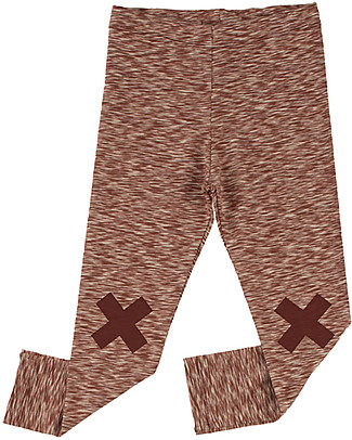 Tiny Cottons Logo Pant, Pale Pink+Bordeaux - Pima Cotton Trousers