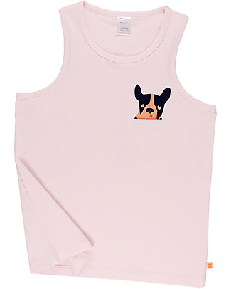 Tiny Cottons Moujik Pocket Tank Top, Pale Pink - Elasticated Pima Cotton T-Shirts And Vests