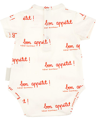 Tiny Cottons Short Sleeves Bon Appétit Bodysuit - Elasticated Pima Cotton Short Sleeves Bodies
