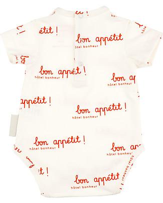Tiny Cottons Short Sleeves Hotel Bonheur Bodysuit - Elasticated Pima Cotton Short Sleeves Bodies