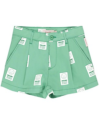 Tiny Cottons Smile Pleat Short - 100% Cotton Shorts