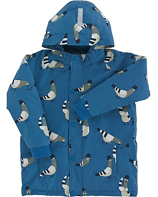 "Tiny Cottons Snow  Jacket ""Pigeons"", Light blue/Light grey - With ski pass sleeve pocket! Jackets"
