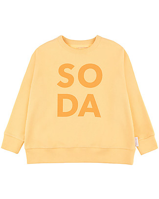 Tiny Cottons Soda Sweatshirt, Yellow - 100% Pima Cotton Sweatshirts