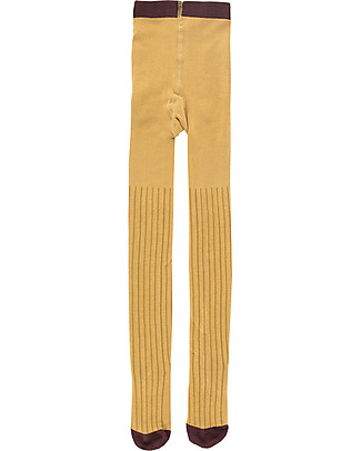 Tiny Cottons Stripes  Tights, Mustard/Sand - Cotton Tights