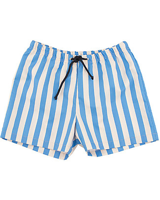 Tiny Cottons Stripes Trunks, Cerulean Blu Swimming Trunks