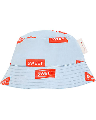 Tiny Cottons Sweet Sun Hat, Light Blue/Red - 100% Cotton Hats