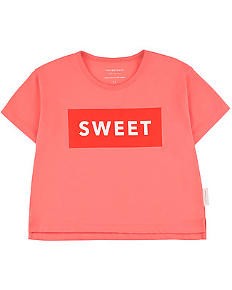 Tiny Cottons SWEET T-Shirt, Pink/Red - Pima Cotton T-Shirts And Vests