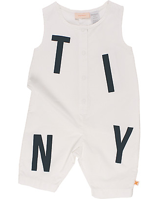 Tiny Cottons Tiny Sleeveless Onepiece, Black and White - 100% Pima Cotton Short Rompers