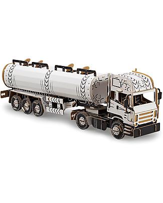 ToDo Carboard Construction Kit Teacher Level, Fuel Truck 158 pieces - Eco-friendly fun! Creative Toys