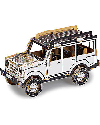 ToDo Cardboard Construction Kit Student Level, Jeep 100 pieces - Eco-friendly fun! Creative Toys