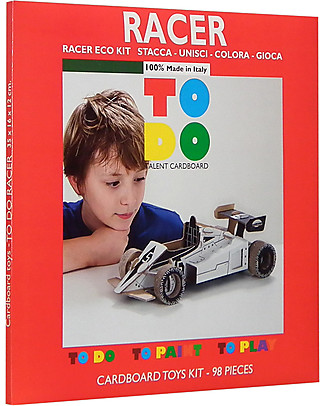 ToDo Cardboard Construction Kit Student Level, Racer 98 pieces - Eco-friendly fun! Creative Toys