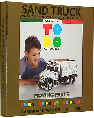 ToDo Cardboard Construction Kit Student Level, Sand Truck 117 pieces - Eco-friendly fun! Creative Toys