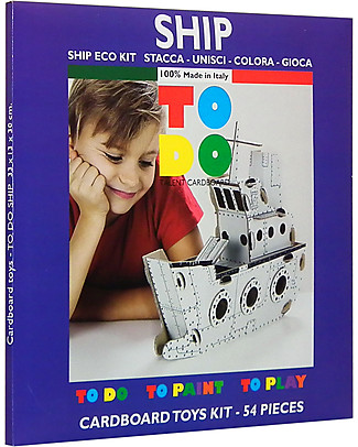 ToDo Cardboard Construction Kit Would-Be Level, Ship 54 pieces - Eco-friendly fun! Creative Toys