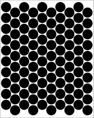 Tresxics 100 Fabric Wall Stickers, Dots - Black - Removable and reusable! Wall Stickers