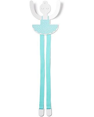 Tresxics Ballerina Clips Holder, Aqua - 36 cm! Hair Accessories