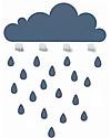 Tresxics Big Cloud Wall Hook & Rain Drops Stickers - Blue Hangers & Hooks