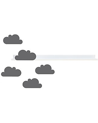 Tresxics Cloud Long Shelf and Removable Stickers - Grey Shelves