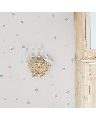 Tresxics Dots Hanger & Dots Stickers - Pastel Wall Stickers