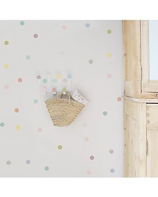 Tresxics Dots Hanger & Dots Stickers - Pastel Wall Stickers