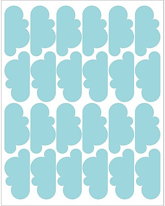 Tresxics Fabric Wall Stickers - 20 Clouds - Light Blue Wall Stickers