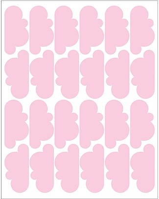 Tresxics Fabric Wall Stickers - 20 Clouds - Pink Wall Stickers