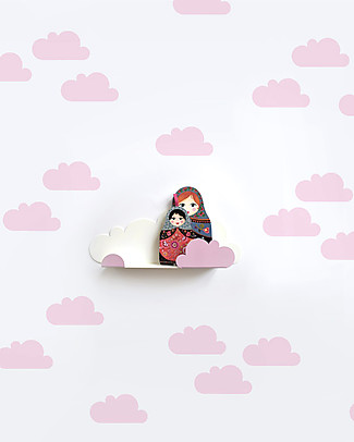 Tresxics Fabric Wall Stickers - Clouds - Pink Wall Stickers