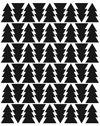 Tresxics Fabric Wall Stickers - Fir Tree - Black Wall Stickers