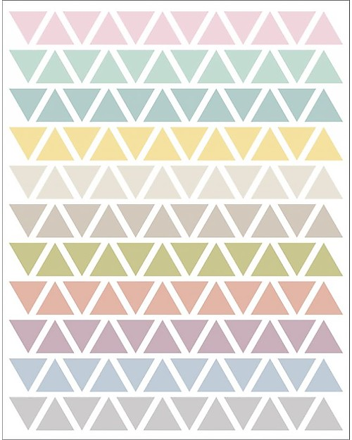 Stickers Per Bambini.Tresxics Fabric Wall Stickers Pastel Triangles Unisex