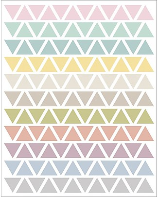Tresxics Fabric Wall Stickers - Pastel Triangles Wall Stickers