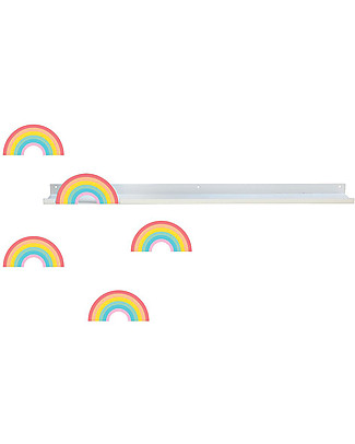 Tresxics Long Shelf Rainbow Colours - Removable and reusable - 50 x 5 cm Wall Stickers