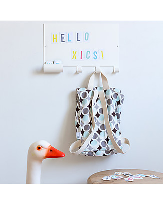 Tresxics Magnet Note Board Hook with Letters - 35 x 23 cm + 60 letters! Room Decorations