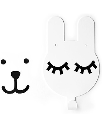 Tresxics Rabbit Wall Hook Tellkido and Tresxics, White - Customizable! Hangers & Hooks