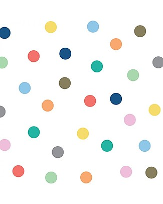 Tresxics Removable Wall Stickers Dots, Assorted Colours - 100 stickers included! Wall Stickers