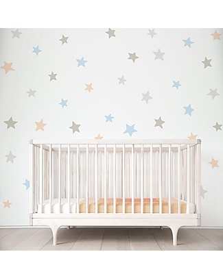 Tresxics Removable Wall Stickers Dots, Soft Colours - 44 stickers included! Wall Stickers