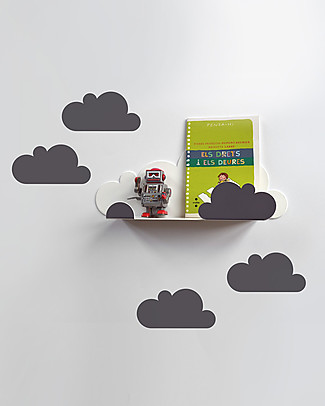 Tresxics Shelf Cloud with Stickers - Grey Wall Stickers